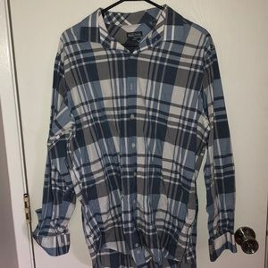 Kenneth Cole Reaction blue plaid button down